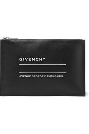 Givenchy Printed textured-leather pouch
