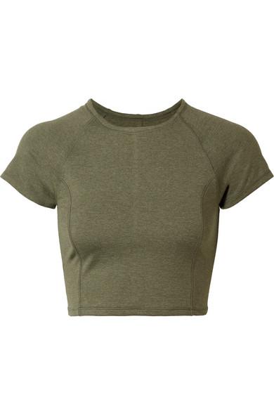 We/Me The Karma verkürztes T-Shirt aus Stretch-Jersey
