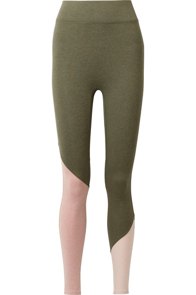 We/Me The Synergy Leggings aus Stretch-Jersey in Colour-Block-Optik