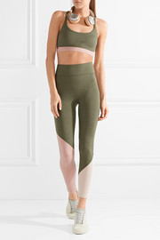 The Synergy color-block stretch-jersey leggings