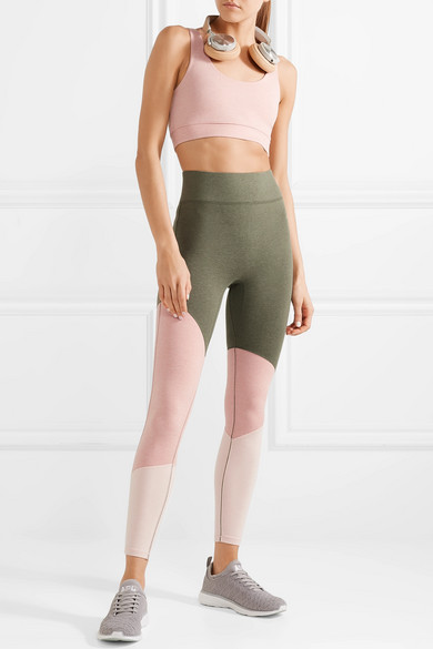 We/Me The Exhale Leggings aus Stretch-Jersey in Colour-Block-Optik Sammlungen Online t3sLJNM