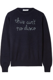 This Ain't No Disco embroidered cashmere sweater