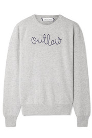 Outlaw embroidered cashmere sweater