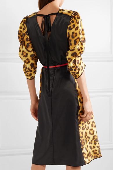Marc Jacobs Dress Belted leopard-print taffeta dress