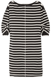 Marc Jacobs Printed striped cotton-jersey mini dress