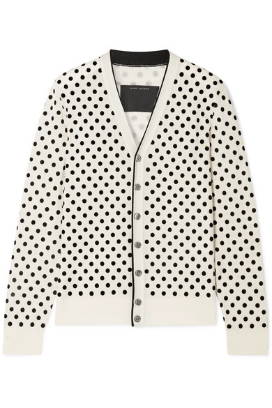 Marc Jacobs Polka Dot Wool Cardigan