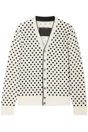 Marc Jacobs Flocked wool cardigan