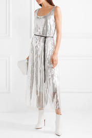 Marc Jacobs Sequined silk-crepe midi dress