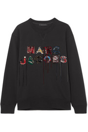 Marc Jacobs Embellished embroidered cotton-jersey sweatshirt