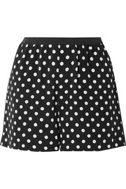 Marc Jacobs Polka-dot silk crepe de chine shorts