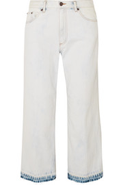 Marc Jacobs Cropped bleached boyfriend jeans