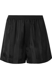 Marc Jacobs Striped satin-jacquard shorts