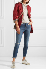 Alana cropped distressed high-rise skinny jeans