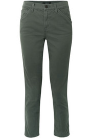 Ruby Painter stretch cotton-blend twill straight-leg pants