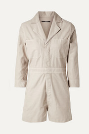 Cotton-canvas playsuit