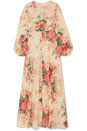 Zimmermann Laelia floral-print linen maxi dress