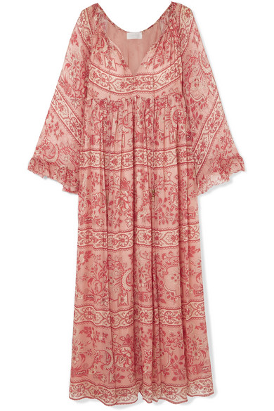 Zimmermann - Castile Printed Silk-crepon Maxi Dress - Antique rose