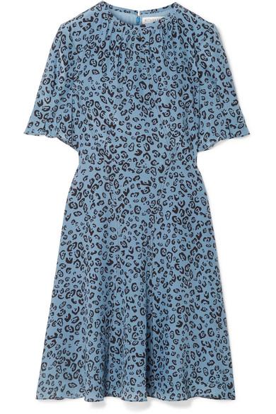 Jae Leopard Print Silk Crepe De Chine Dress by Altuzarra