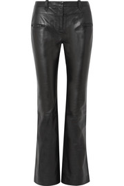 Altuzarra Serge leather bootcut pants