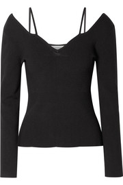 Berrima Pullover in Rippstrick mit Cut-out