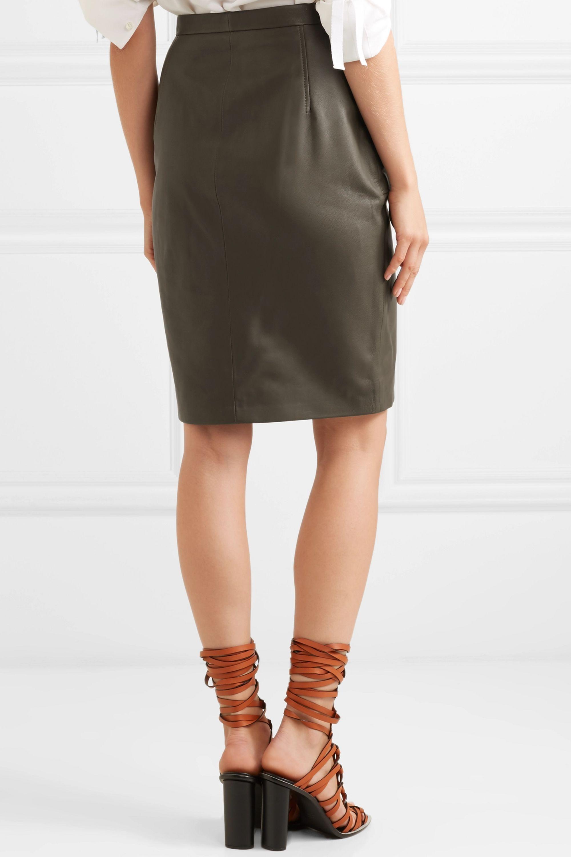 Altuzarra Pollard leather skirt
