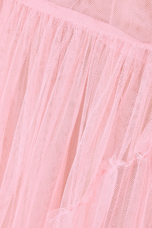 STAUD Stella bead-embellished tulle wrap maxi dress
