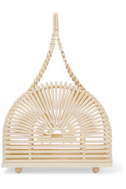 Dome mini bamboo clutch