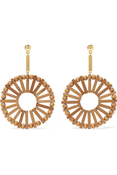 CULT GAIA EVA BAMBOO AND GOLD-TONE EARRINGS