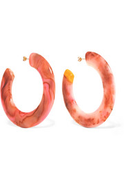 Cult Gaia Kennedy resin hoop earrings