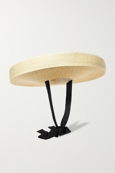 CULT GAIA PALOMA COTTON-TRIMMED STRAW HAT