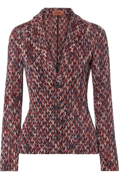 Crochet-Knit Blazer in Black