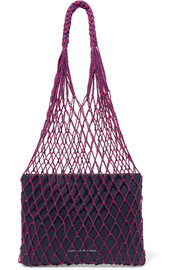 Loeffler Randall Adrienne macramé and leather tote