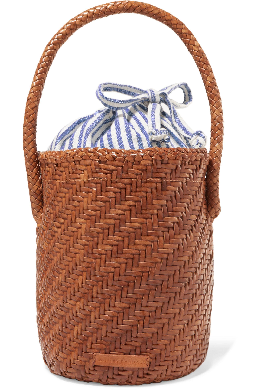 Loeffler Randall Cleo woven leather bucket bag