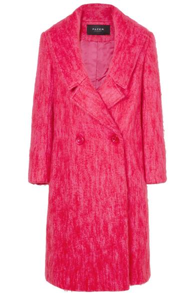 PAPER London - Rainbow Mohair-blend Coat - Pink