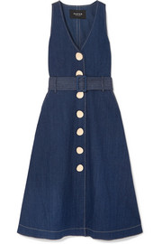 Wallace denim midi dress