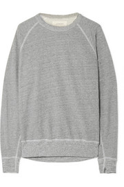 The College distressed cotton-blend jersey sweatshirt