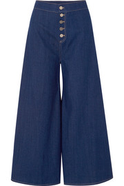 Kelly cropped high-rise wide-leg jeans