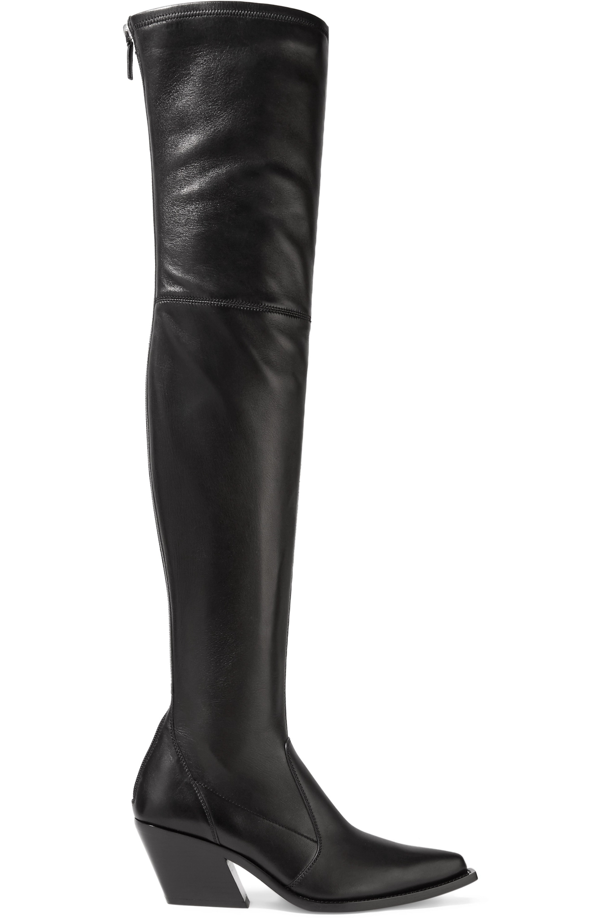 Givenchy Leather over-the-knee sock boots