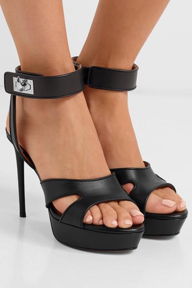 Givenchy Platforms Shark Lock cutout leather platform sandals