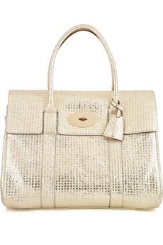 Mulberry|Bayswater metallic leather bag|NET-A-PORTER.COM from net-a-porter.com