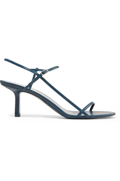 Bare Leather Sandals - Teal Size 9 in Navy