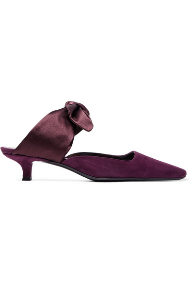 Coco Suede Mules - Lily Rose - Port Size 7 in Plum