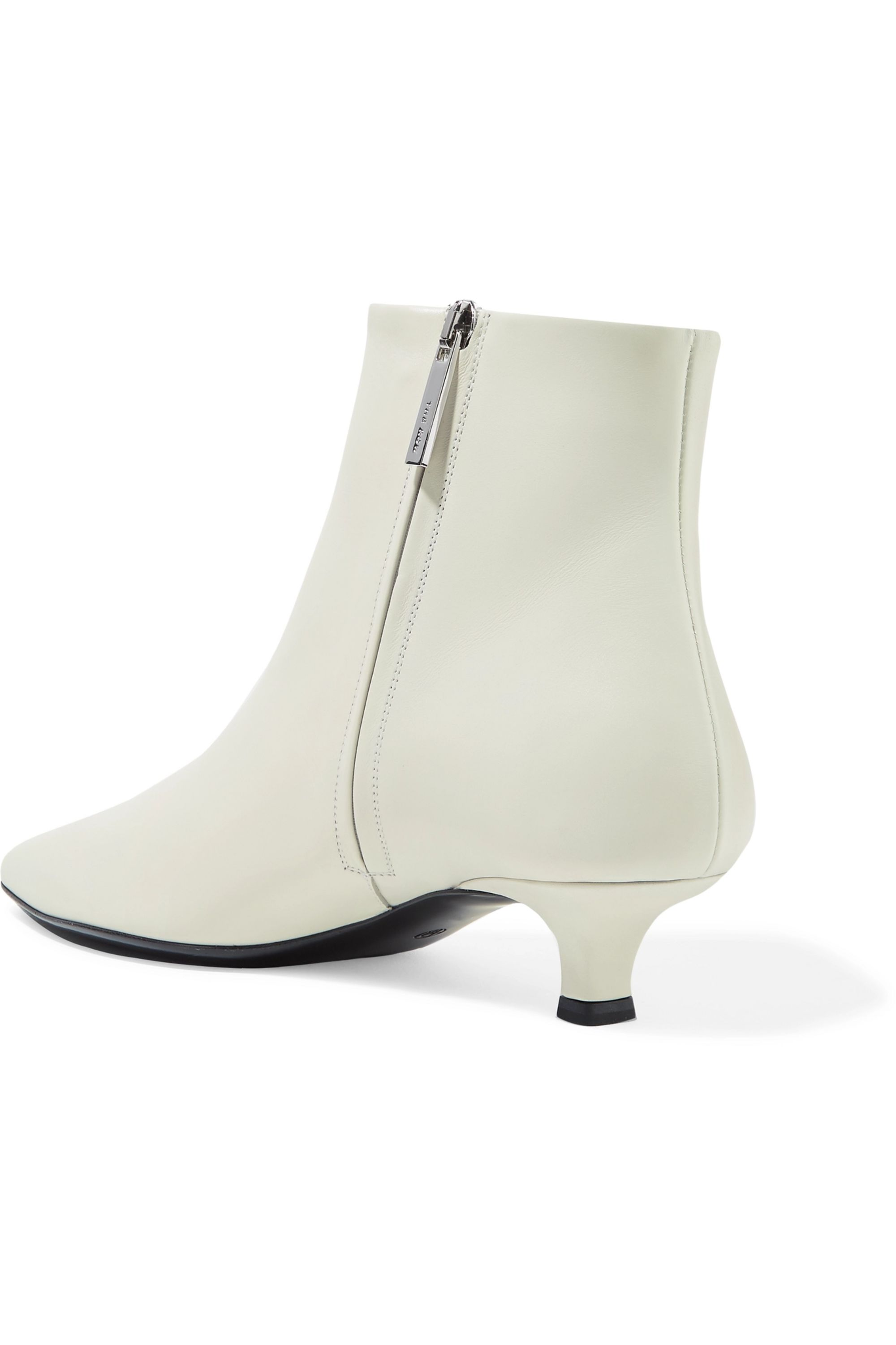The Row Coco leather ankle boots