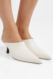 Bourgeoise leather mules