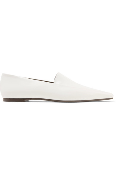Minimal Leather Loafers - Bright White Size 9.5