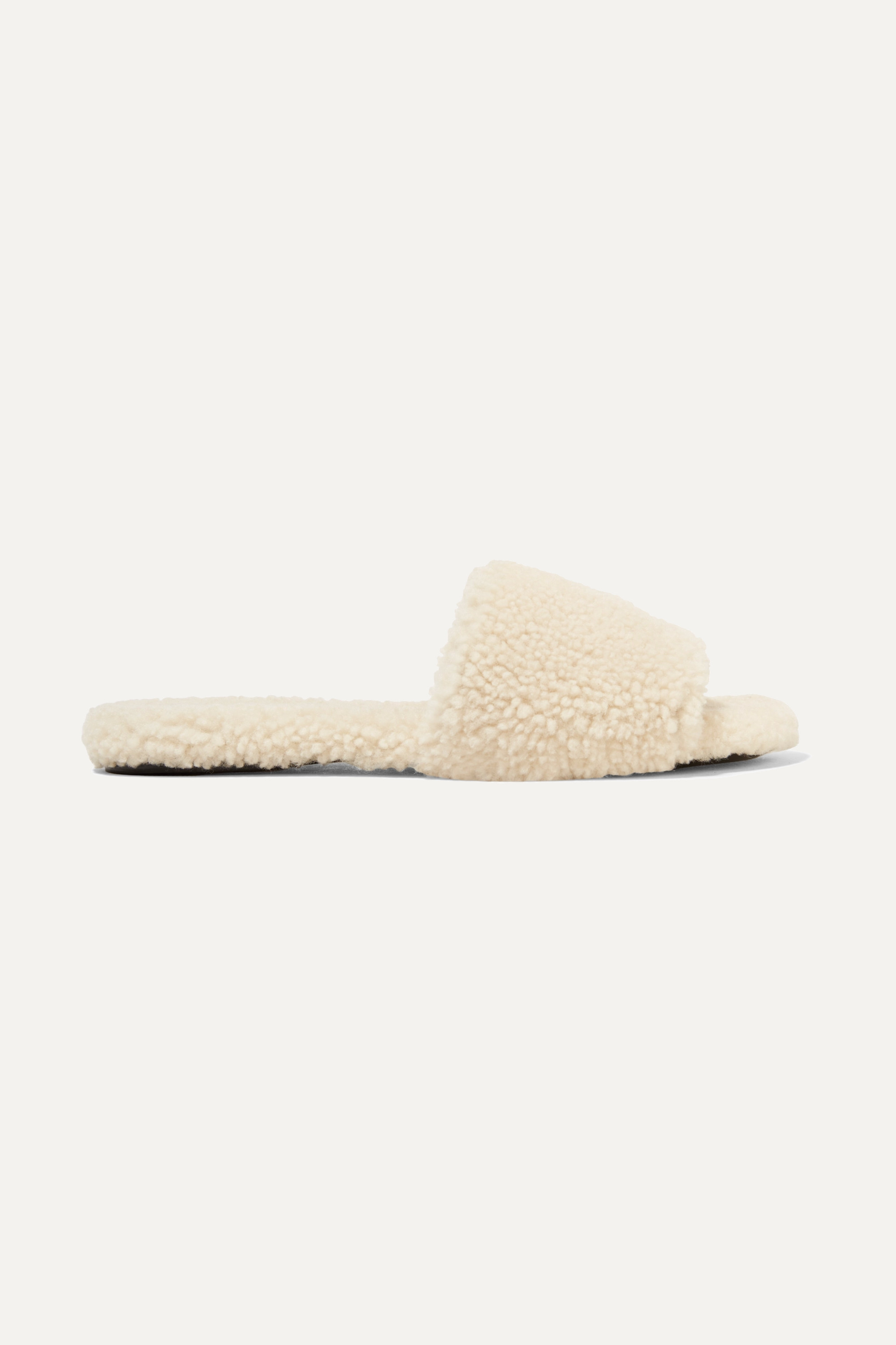 The Row Teddy Bear shearling slides