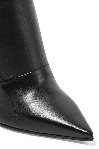 Balmain Leder | Kniehohe Stiefel aus Leder Balmain c170df