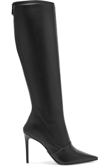 BALMAIN Leather knee boots