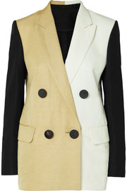 Petar Petrov Color-block linen-blend blazer