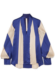 Petar Petrov Striped silk-satin blouse